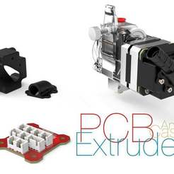 Download free 3D printing designs PCB Extruder and Case, perinski