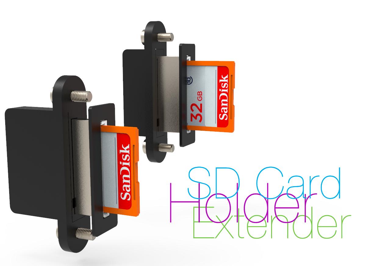 SD.jpg Télécharger fichier STL gratuit Support pour carte SD d'extension • Modèle pour imprimante 3D, perinski