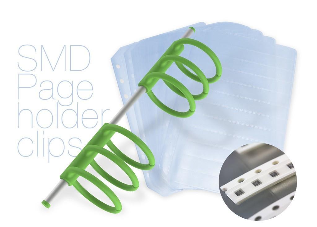 dc0c15fbea6646f6fe21bbf186d36068_display_large.jpg Télécharger fichier STL gratuit Pinces porte-pages SMD • Objet pour imprimante 3D, perinski
