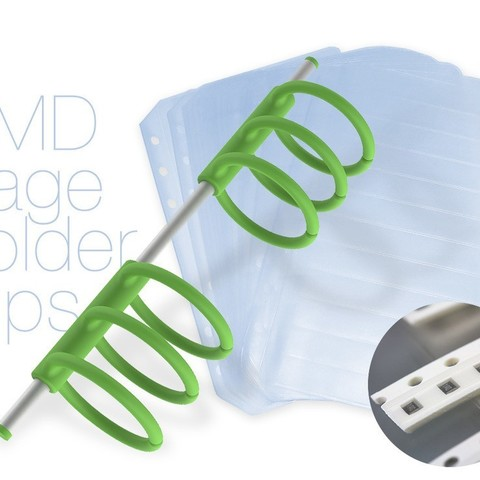 Download free 3D printing templates SMD page holder clips, perinski