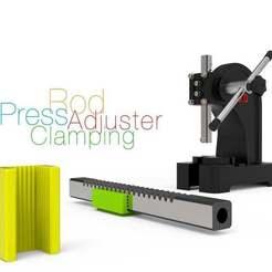 Download free STL file Press Rod Clamping Adjuster • Object to 3D print, perinski