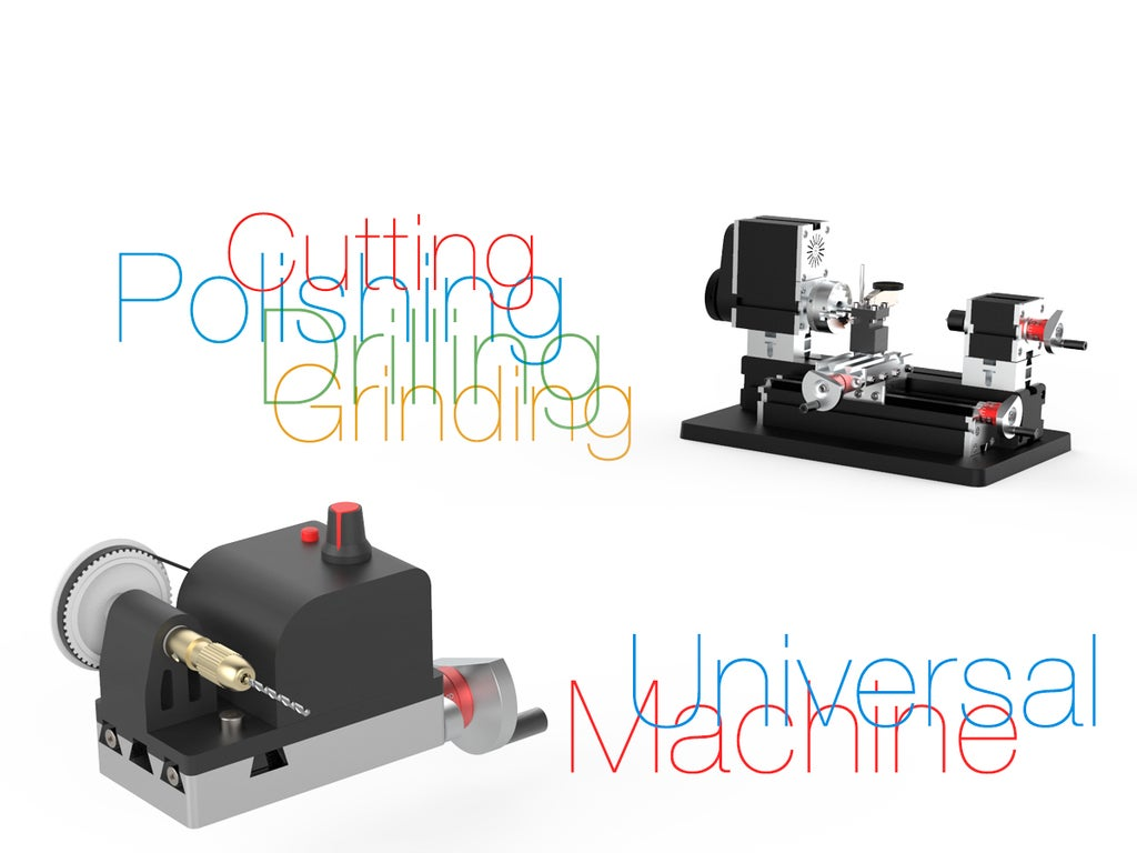acef68a82dc1cf1ce77b48e797944ff9_display_large.jpg Télécharger fichier STL gratuit Machine universelle pour tour miniature • Modèle pour imprimante 3D, perinski