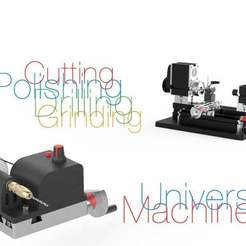 Download free 3D printing templates Universal Machine for Mini Lathe, perinski
