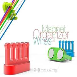 Download free 3D printer model Magnet Organizer for Wires, perinski