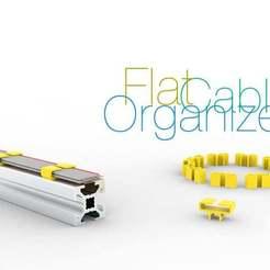 Download free STL files Flat cable organizer, perinski