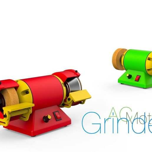 Télécharger fichier STL gratuit Meuleuse. Moteur à courant alternatif • Plan pour impression 3D, perinski