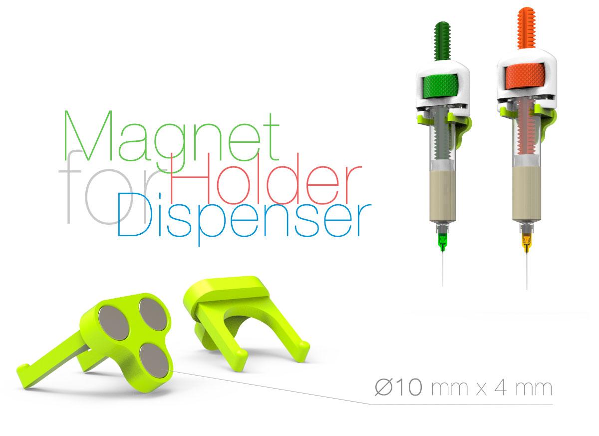 Magnet-Holder-for-Dispenser.jpg Télécharger fichier STL gratuit Support magnétique pour distributeur • Modèle pour impression 3D, perinski