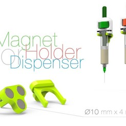 Download free 3D printing files Magnet Holder for Dispenser, perinski