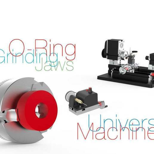 Download free 3D printing files O-Ring for Grinding Jaws / Mini Lathe, perinski