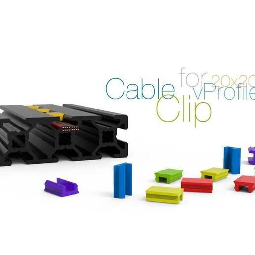 Télécharger fichier STL gratuit Clip de câble pour vProfile 20xXX • Modèle à imprimer en 3D, perinski