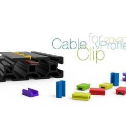 Cable-clip-for-profile-20x20.jpg Télécharger fichier STL gratuit Clip de câble pour vProfile 20xXX • Modèle à imprimer en 3D, perinski
