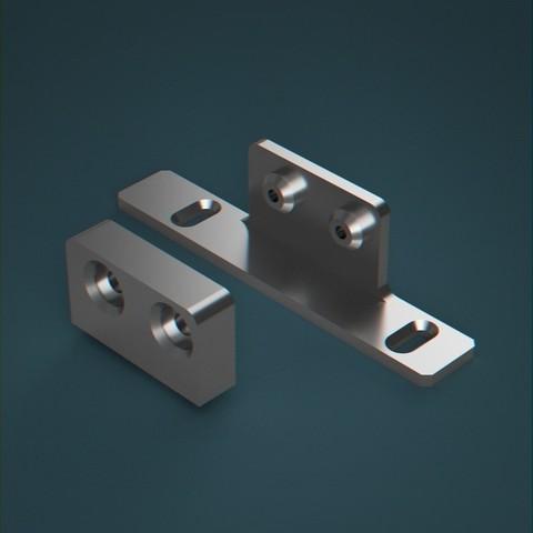 Télécharger plan imprimante 3D gatuit Support de fixation avant de tiroir MultiTech Hettich, idmadj