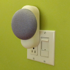 Download STL Clean & Minimal Google Home Mini Outlet Mount, idmadj