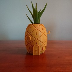 Free 3D printer designs Spongebob's House Plant Pot, reno77