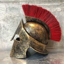 STL files 300 spartan helmet replica 3D print model, IvanVolobuev