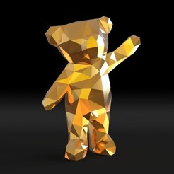 Download 3D model Low poly bear, IvanVolobuev