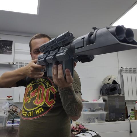 Download STL files Cyberpunk 2077 Shotgun, IvanVolobuev