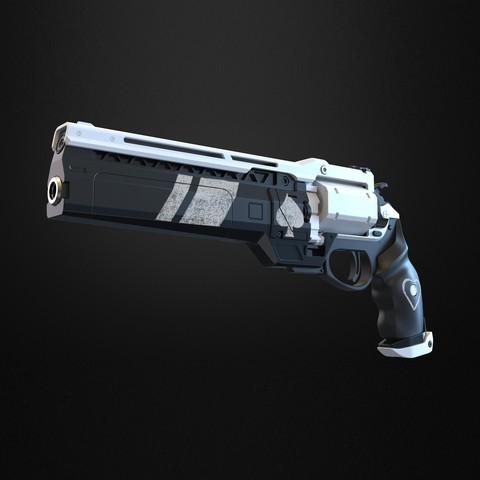 STL files Ace of spades Hand cannon - Destiny 3D print model, IvanVolobuev