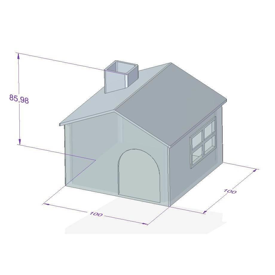 Casa.JPG Download STL file Mini house for hamster • Model to 3D print, shonduvilla
