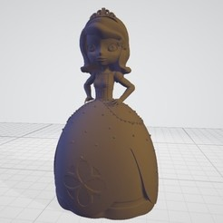 Sin título.jpg Download STL file Princess Sofia • Design to 3D print, cldcrrz