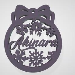 Ahinara.jpg Télécharger fichier STL Sphère de Noël • Objet pour imprimante 3D, cldcrrz