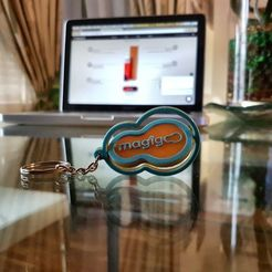 Plan imprimante 3D gatuit Porte-clés cadeau d'entreprise, Castigliano