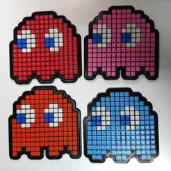 Download 3D print files Blinky, Pinky, Inky and Clyde (PacMan ghosts), arielp