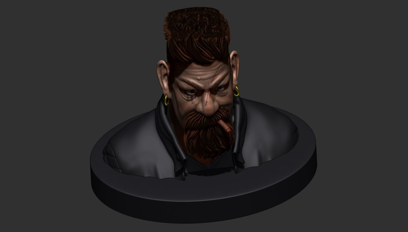 20.JPG Download STL file Zombie Hunter Bust  • Template to 3D print, Bstar3Dart