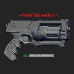 Download 3D printer templates Nerf Maverick For Cosplay, Bstar3Dart