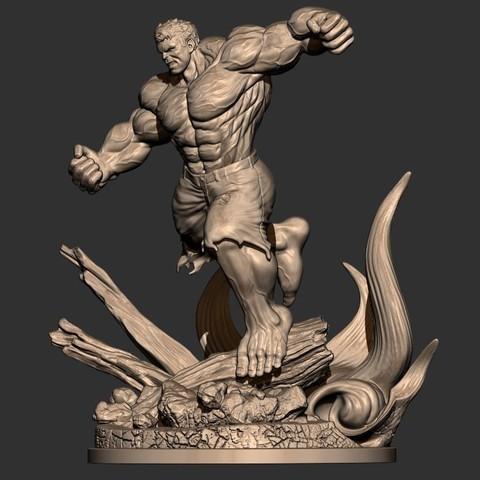 2.JPG Download STL file Hulk Angry - Super Hero - Marvel 3D print model • 3D print model, Bstar3Dart