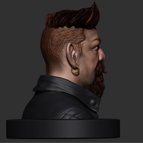 18.JPG Download STL file Zombie Hunter Bust  • Template to 3D print, Bstar3Dart