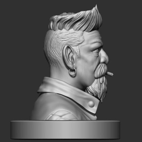 6.JPG Download STL file Zombie Hunter Bust  • Template to 3D print, Bstar3Dart