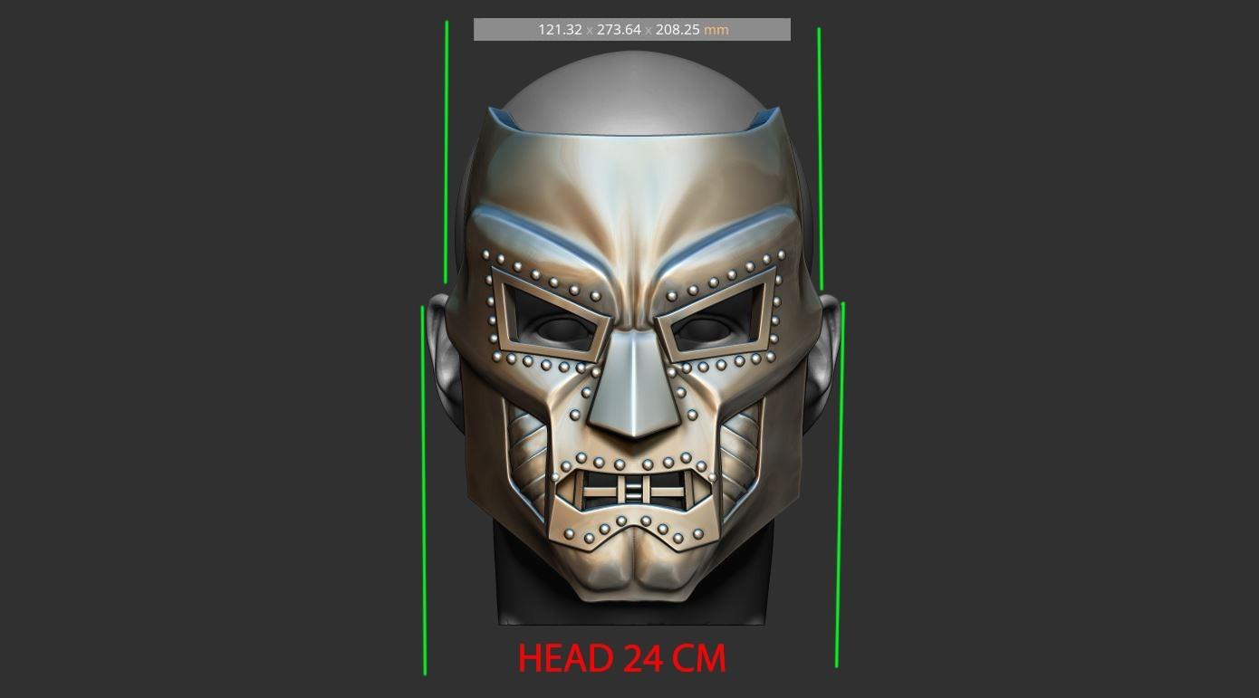 14.jpg Download STL file Doom mask - Helmet Marvel 3D print model • 3D printable model, Bstar3Dart