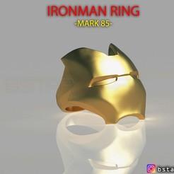 Download 3D print files IRON MAN RING - iron man jewelry - Mark 85 - Infinity war 3D print model, Bstar3Dart