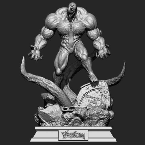 bstar3dprint 3d print model super venom marvel 3d print model