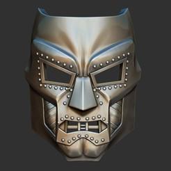 Download 3D printer designs Doom mask - Helmet Marvel 3D print model, Bstar3Dart