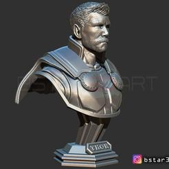 Fichier impression 3D Thor Buste Cheveux Courts - Infinity war - Vengeur - de Marvel, Bstar3Dprint