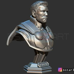 3D print model Thor Bust Short Hair - Infinity war -  Avenger  - from Marvel, Bstar3Dprint