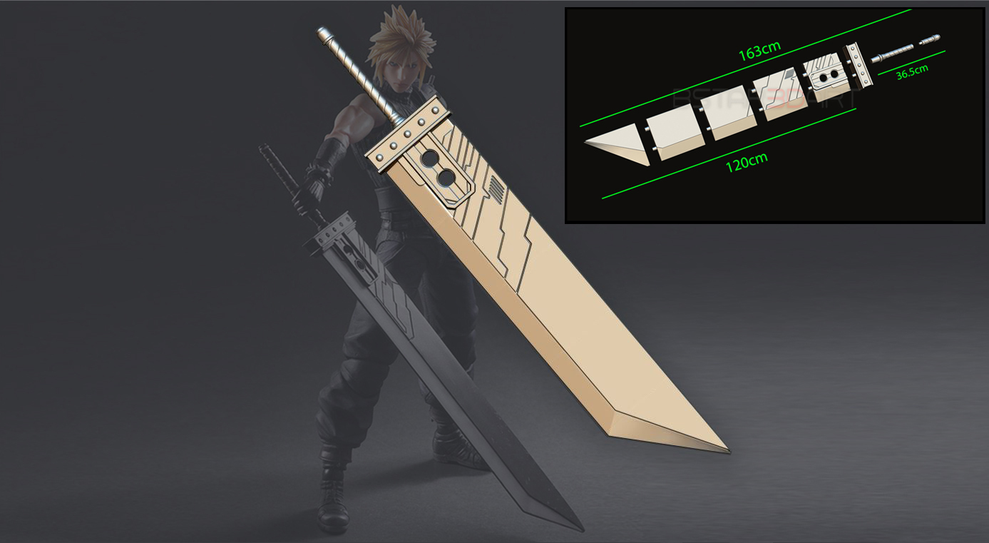 001.jpg Download STL file Buster Sword Cloud - Final Fantasy VII Remake • 3D printable template, Bstar3Dart