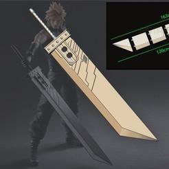 001.jpg Télécharger fichier STL Buster Sword Cloud - Final Fantasy VII Remake • Design pour imprimante 3D, Bstar3Dart