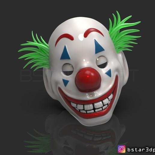 Download 3D Printer Files CLOWN MASK 2019