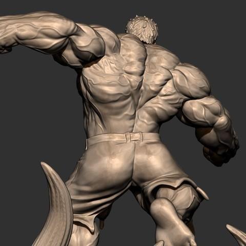 11.JPG Download STL file Hulk Angry - Super Hero - Marvel 3D print model • 3D print model, Bstar3Dart
