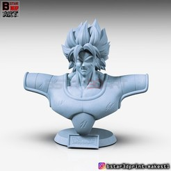 Download STL Broly Bust - from Broly Movie 2019, Bstar3Dart