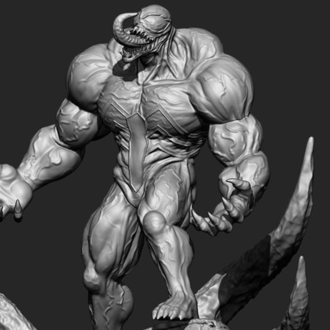 14.JPG Download STL file Super Venom - Marvel 3D print model • 3D printer model, Bstar3Dart