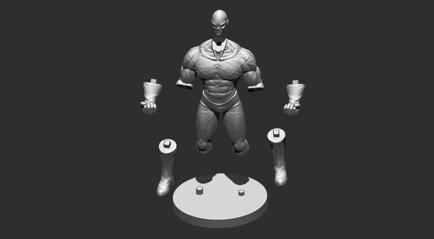 24.JPG Download OBJ file Jiren Dragonball Super Real version • 3D print object, Bstar3Dart
