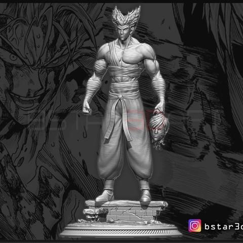 3D printing model Garou - One punch Man - Fan Art - Realistic Version, Bstar3Dprint