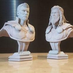 Download 3D printer designs Thor Bust Avenger 4 bust - 2 Heads - Infinity war - Endgame 3D print model, Bstar3Dart