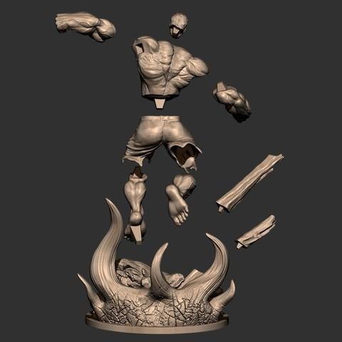 18.JPG Download STL file Hulk Angry - Super Hero - Marvel 3D print model • 3D print model, Bstar3Dart