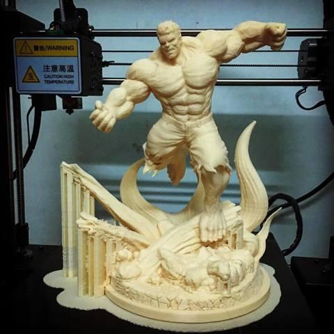 Archivos STL Hulk Angry - Super Hero - Modelo de impresión en 3D de Marvel, Bstar3Dprint