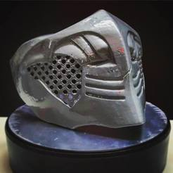 Imprimir en 3D Mortal Kombat X - Máscara de Escorpión Para Cosplay, Bstar3Dart
